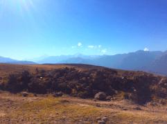 Route entre Chincero et Moray, Vallée Sacrée, paysages montagneux de Chicon