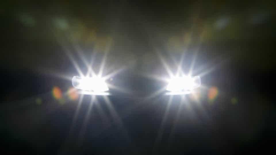Ilustrasi lampu jauh