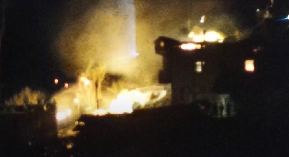 İkizdere'de yanan ev sayısı 10'a yükseldi