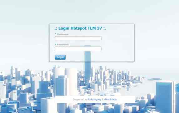 Halaman Login Hotspot TLM 37
