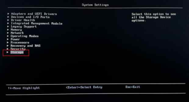 4. BIOS Storage