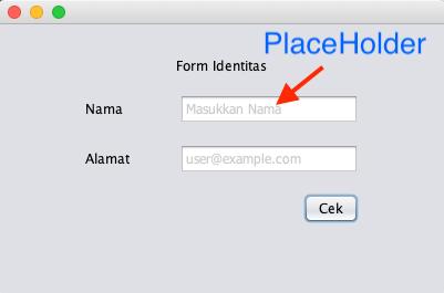 إستخدم النصوص التوضيحية PlaceHolder فى حقل النص jtextfield Placeholder