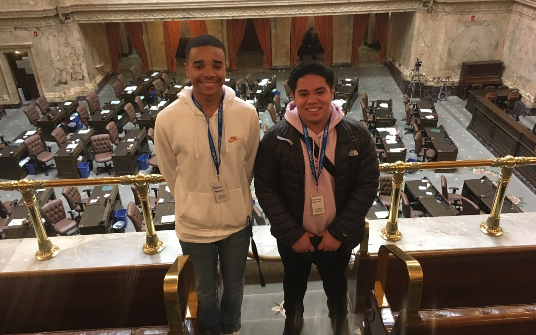 Youth Leaders Travel to Olympia For Advocacy Day!