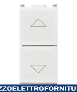 Due pulsanti interbl.1P NO+NO10A bianco