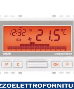 Cronotermostato batterie bianco