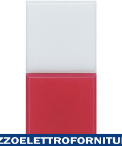 BTICINO axolute - spia rosso/bianco opalino 230V