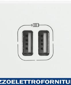 BTICINO axolute - caricatore USB 2p 2400mA 5V bian