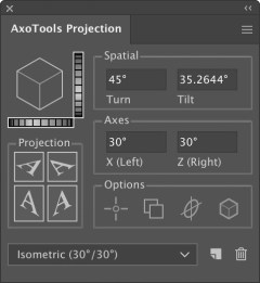 AxoTools projection panel