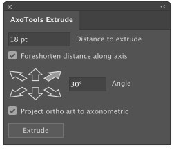 AxoTools Extrude panel