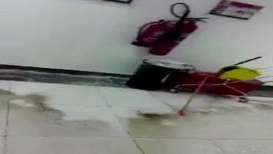صورة فيديو: تسرب مياه الأمطار داخل جامعة الملك خالد في أبها
