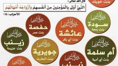 صورة هل تعرف زوجات النبي صلى الله عليه و سلم ( أمهات المؤمنين )