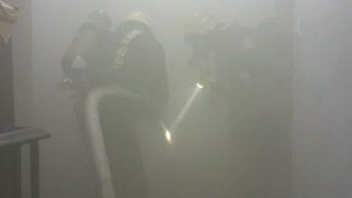 صورة صور إصابة امرأة وطفلة جراء حريق في شقة أبو عريش