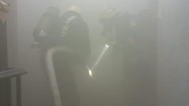 Photo of صور إصابة امرأة وطفلة جراء حريق في شقة أبو عريش