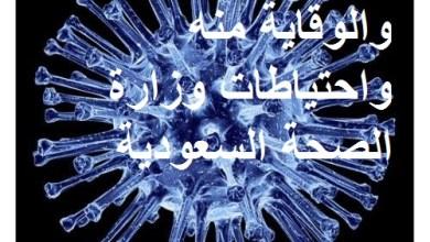 Photo of فيروس كورونا والوقاية منه واحتياطات وزارة الصحة السعودية