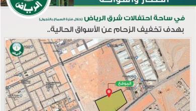 Photo of إنشاء مركز في شرق الرياض لبيع الخضار والفواكه في ساحة الاحتفالات