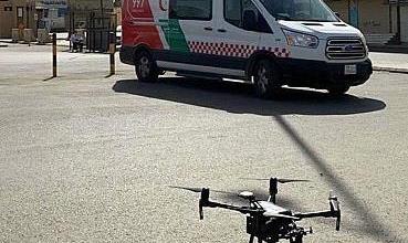 """Photo of طائرات """" الدرون """" تراقب درجات الحرارة لحماية المتسوقين في القصيم"""