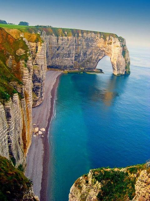 البحر ، Etretat ، فرنسا