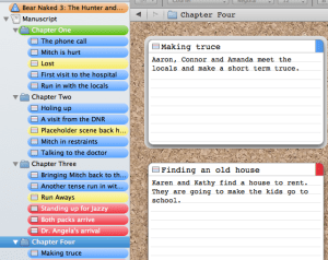 I now use Scrivener to plan my writing.
