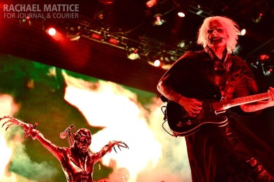 Rob Zombie performs on the Main Stage during Mayhem Festival at Klipsch Music Center in Noblesville, Ind. on Friday, July 26, 2013. (Photo by Rachael Mattice/Journal & Courier)