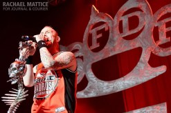 Five Finger Death Punch performs on the Main Stage during Mayhem Festival at Klipsch Music Center in Noblesville, Ind. on Friday, July 26, 2013. (Photo by Rachael Mattice/Journal & Courier)