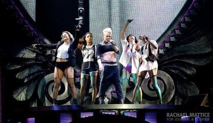 "Pink performs at Bankers Life Fieldhouse in Indianapolis, Ind. for her ""The Truth About Love"" tour on Thursday, November 21, 2013. (Photo by Rachael Mattice/Journal & Courier)"