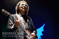 """Heavy metal gods Black Sabbath made their first appearance in Indiana since 2004 on Sunday, August 18, 2013 at Klipsch Music Center in Noblesville, Ind. The tour, following the release of their latest album """"13,"""" included original members guitarist Tony Iommi, bassist Geezer Butler and the Prince of Darkness, Ozzy Osbourne on vocals. (Photo by Rachael Mattice/Journal & Courier)"""
