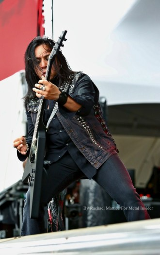 """""""Ministry guitarist Sin Quirin performs at Chicago Open Air music festival on Friday, July 14, 2016 at Toyota Park in Bridgeview, Ill. Photo by Rachael Mattice/For Metal Insider."""""""