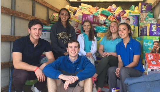 RJ Students for Life Lead Successful Diaper Drive