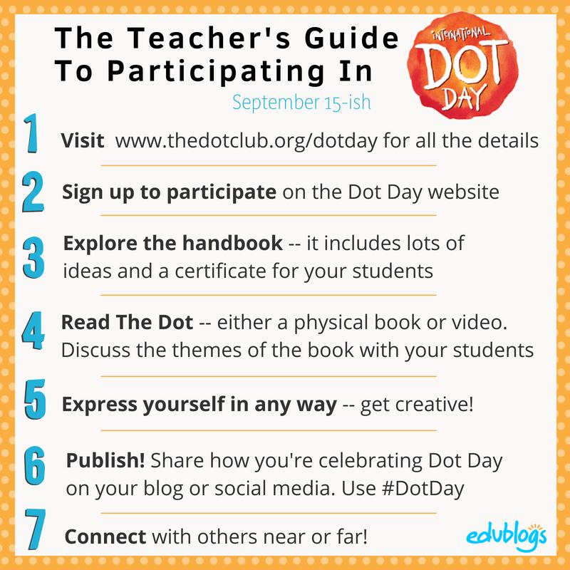 7 Steps To Participating in International Dot Day for Teachers Edublogs -- The Edublogger