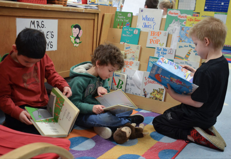 Kindergartners in Bethlehem, Pennsylvania.