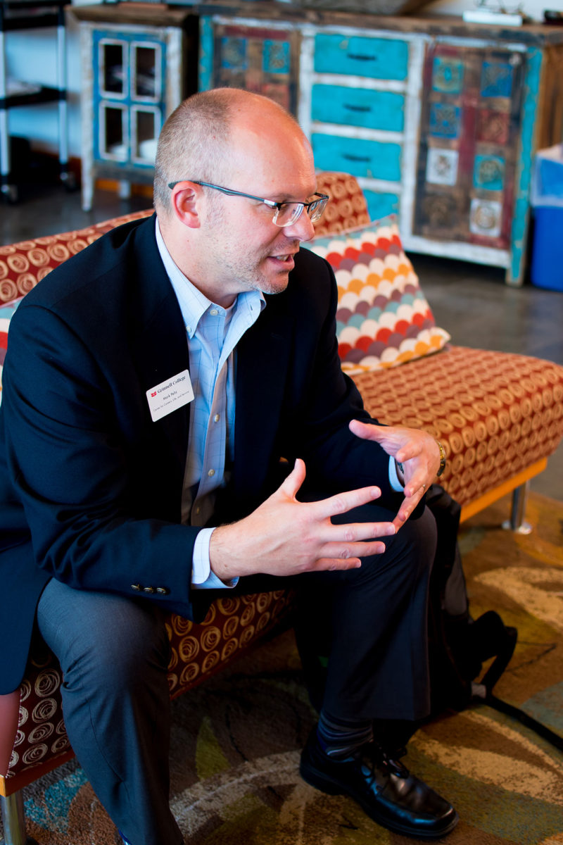 """Mark Peltz, dean of careers, life, and service at Grinnell College, which requires first-year students to begin career planning before their classes even start. """"The big problem most campuses have is that students wait until it's too late,"""" Peltz says."""