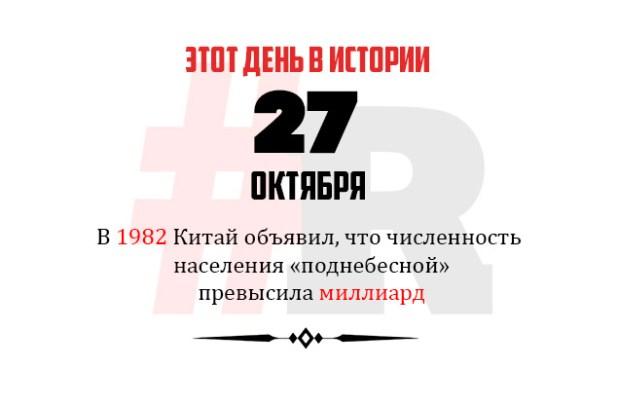 День в истории 27 октября