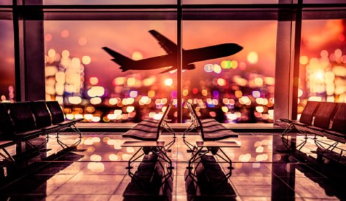Самолет аэропорт на взлет