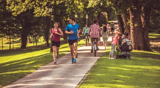 прогулки бег спорт ходьба