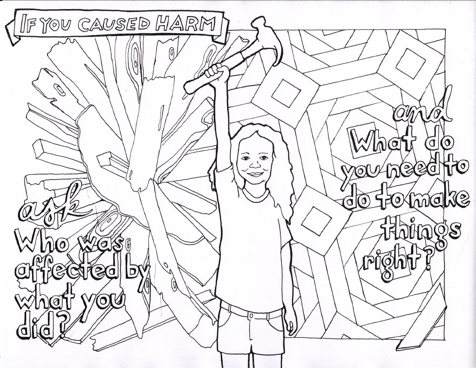 Katy Groves If You Have Caused Harm Coloring Sheet