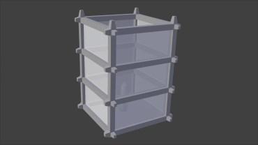 Oriental Lantern Model - Untextured 3D Render