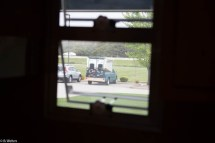 My RV through the window of the one to the left