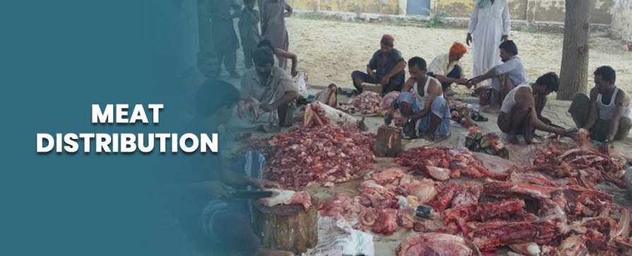 Meat Distribution Among Poor And The Relatives