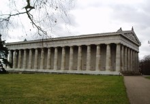 Valhalla, a Parthenon look-alike built near Regensburg by Ludwig I of Bavaria to celebrate the giants of the Germanic world and the world's first Hall of Fame.