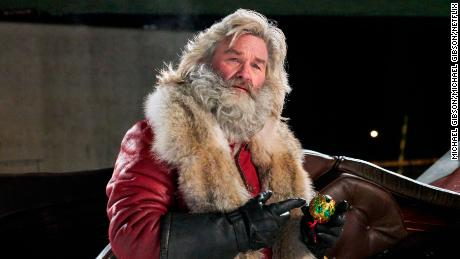 Kurt Russell as the street smart Santa