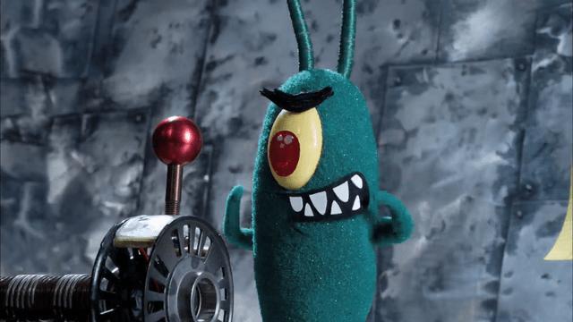 Plankton tries to ruin Spongebob's Christmas