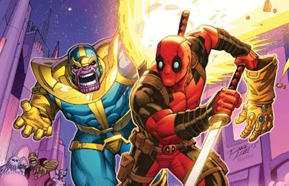Deadpool and Thanos having another one of their spats in Marvel