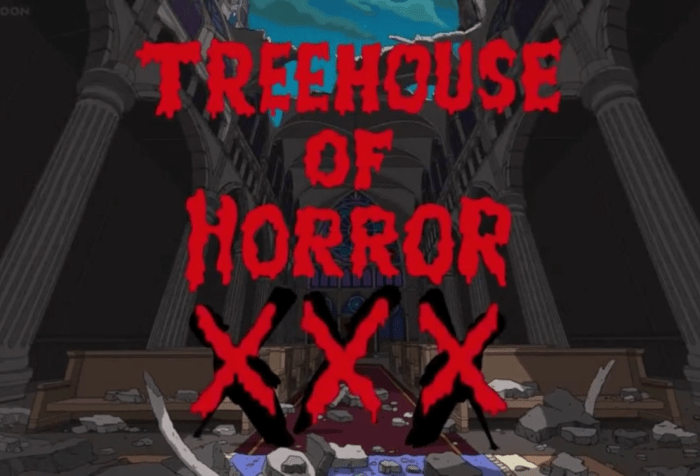 The Simpsons-Treehouse of Horror XXX Cover