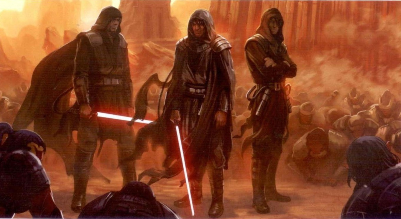Once Jedi, now the first Sith Lords. All rights reserved to Star Wars, Disney, and Wookiepedia