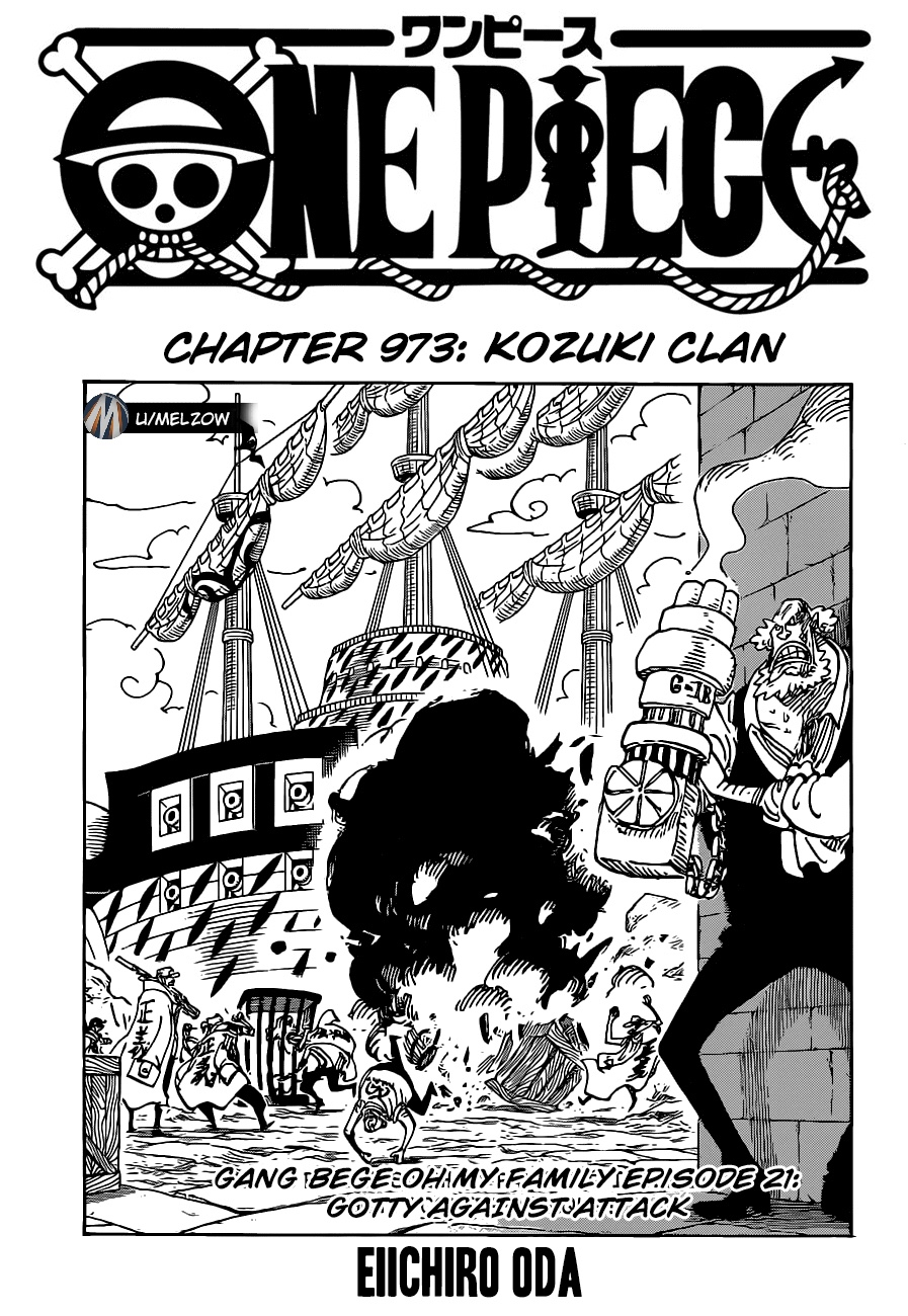 "One Piece Chapter 973 ""Kozuki Family"" Opening Page"