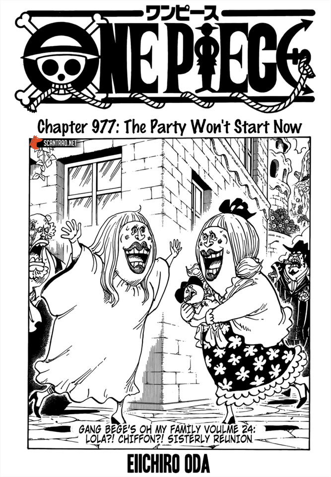 One Piece Chapter 977 Cover Page