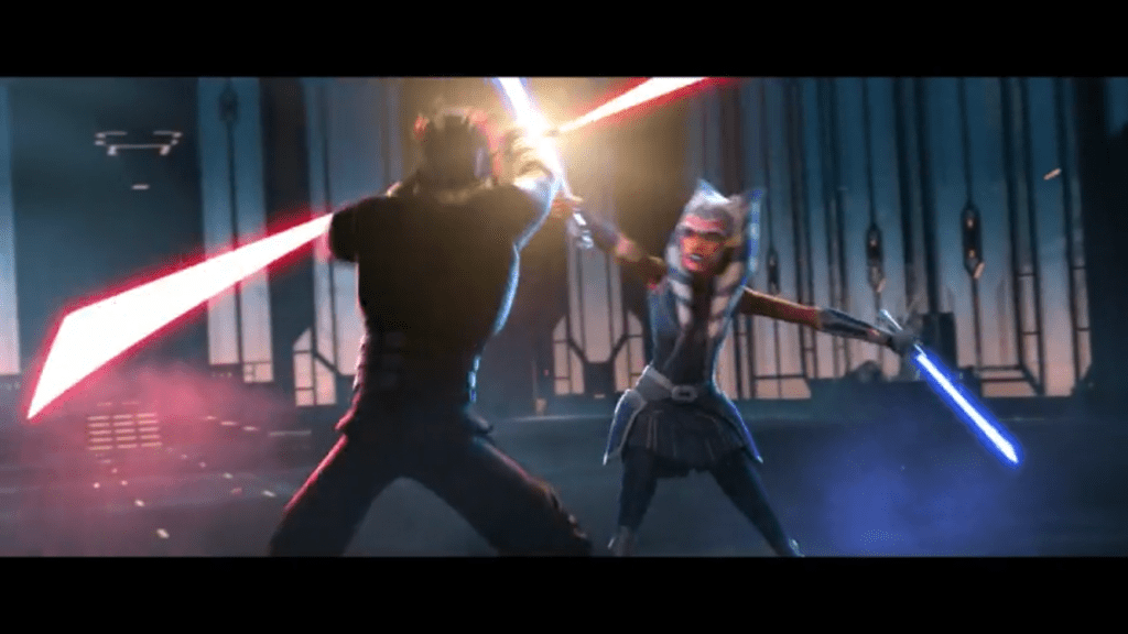 "Ashoka and Maul duel in ""The Phantom Apprentice"" Star Wars The Clone Wars Season 7 Episode 10"