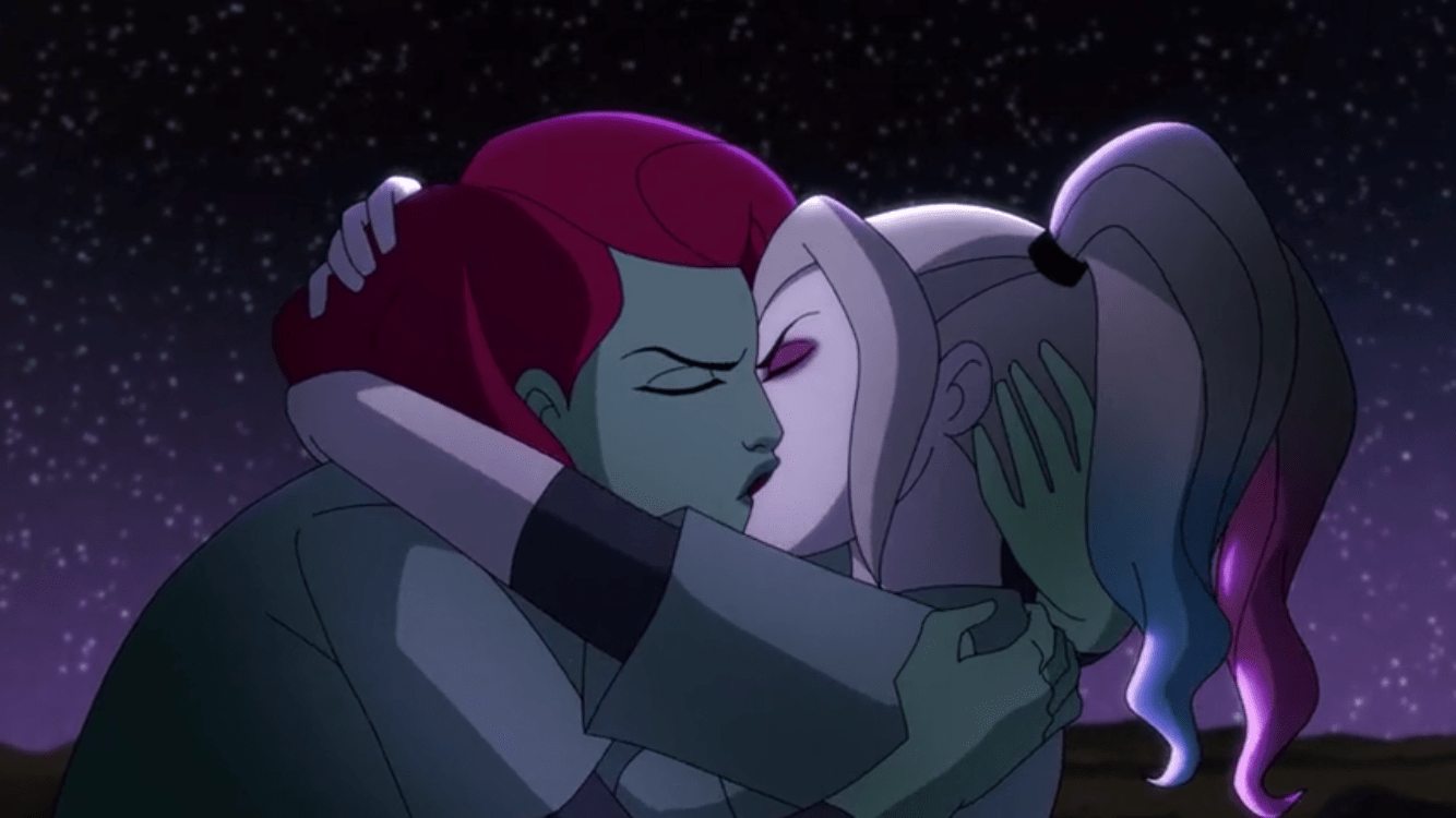 Harley Quinn Season 2 Episode 7-There's No Place to Go But Down Harley+Ivy Kiss