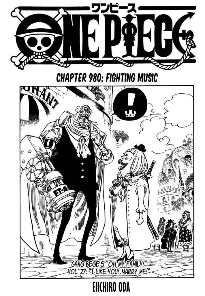 One Piece Chapter 980 Cover Page