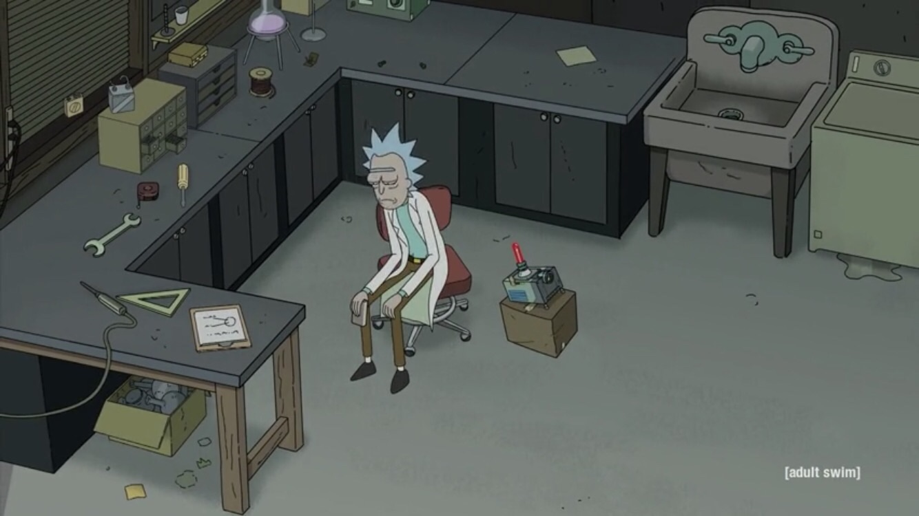 Rick and Morty Season 4 Episode 10- Star Mort, Rickturn of the Jerri Rick realizes how alone he is.
